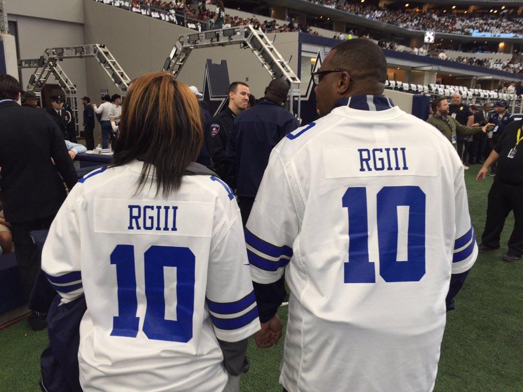 Wishful thinking? 2 Dallas fans wear Robert Griffin III Cowboys ...