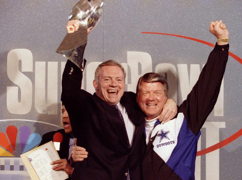 Image result for Jerry Jones holds super bowl