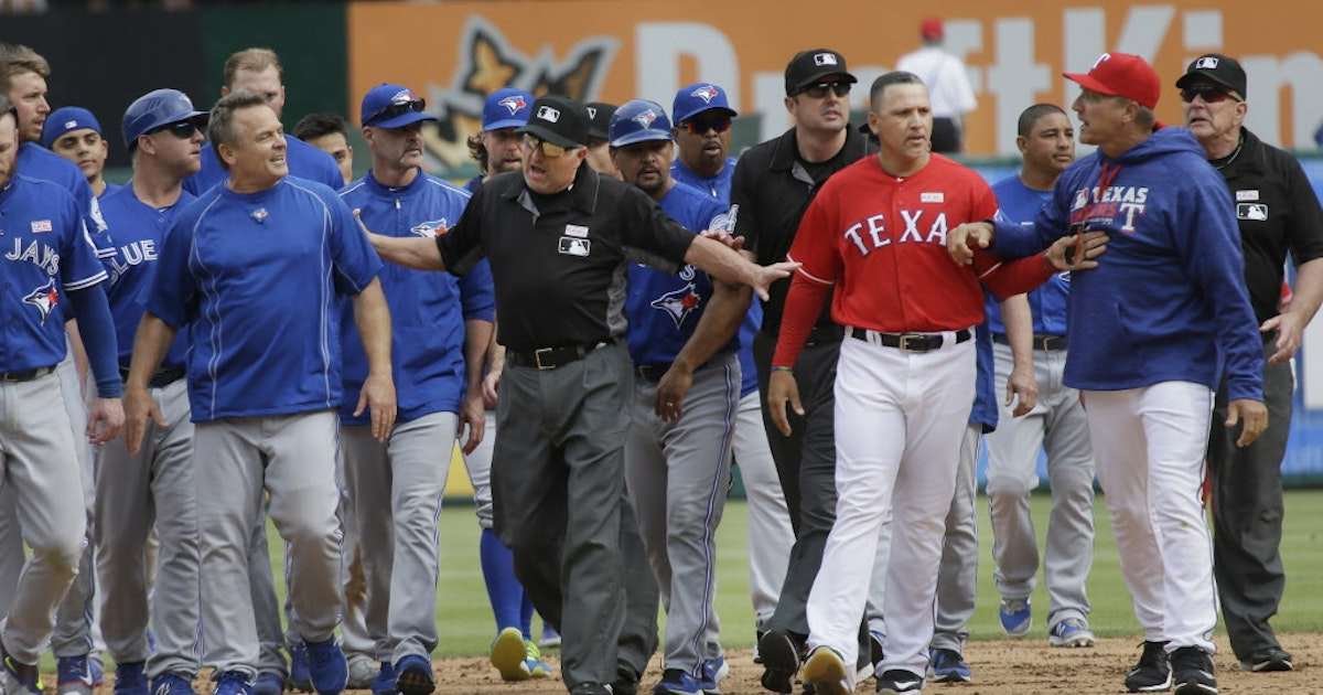 Texas Rangers: Three takeaways: Rangers get 7-6 win over Blue Jays in a brawl disguised as a baseball game | SportsDay