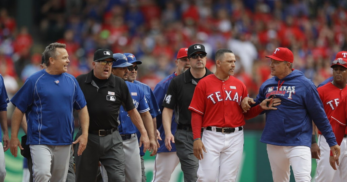Texas Rangers: Evan Grant's post-brawl thoughts: Bautista whines too much; if Rangers were aiming to hit him, they waited too long | SportsDay