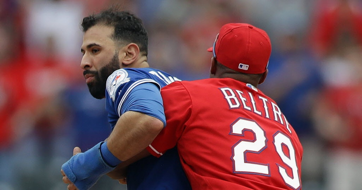 Texas Rangers: Gosselin: Adrian Beltre a hero during benches-clearing brawl between Rangers, Blue Jays | SportsDay