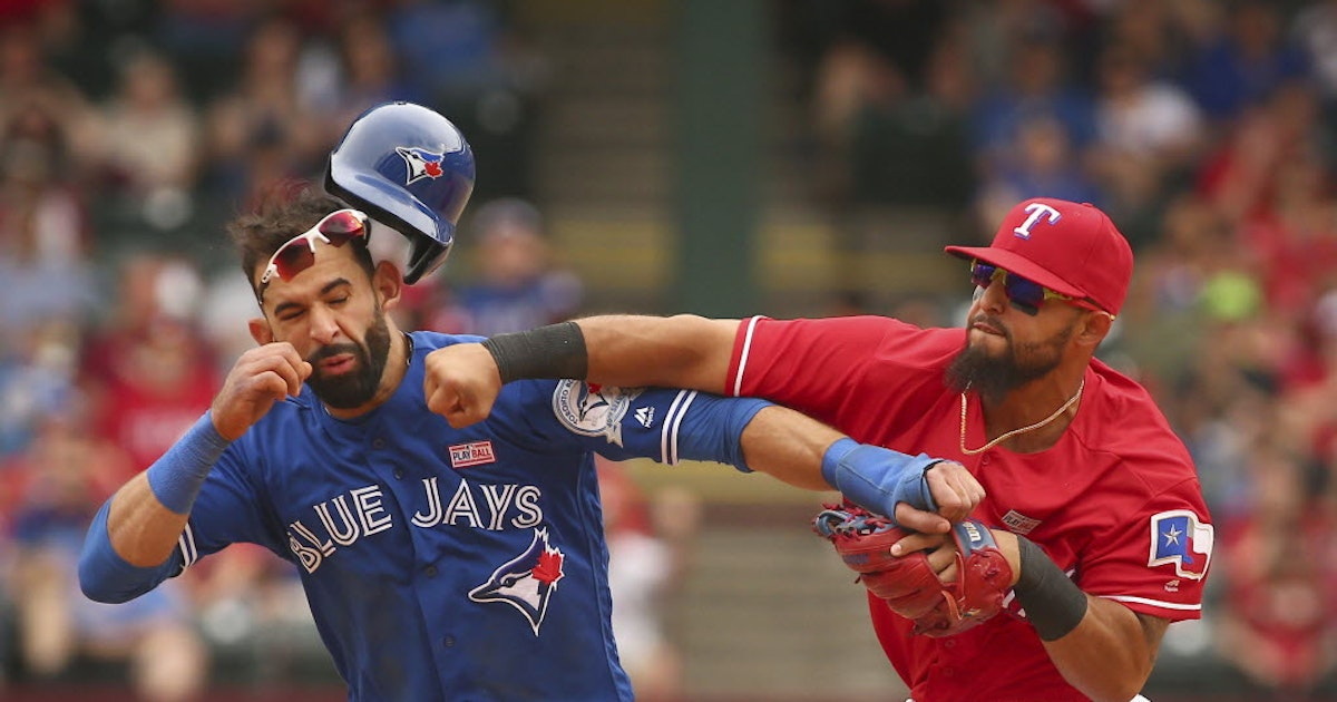 Texas Rangers: The best of your reactions to Rougned Odor punching Jose Bautista's lights out | SportsDay