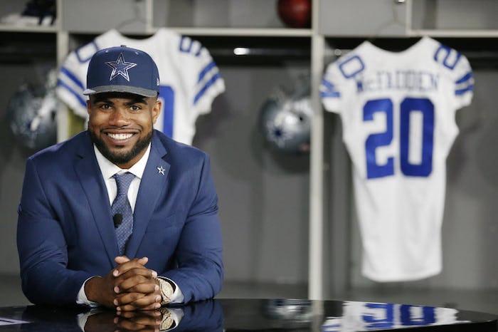 nfl Dallas Cowboys Ezekiel Elliott YOUTH Jerseys