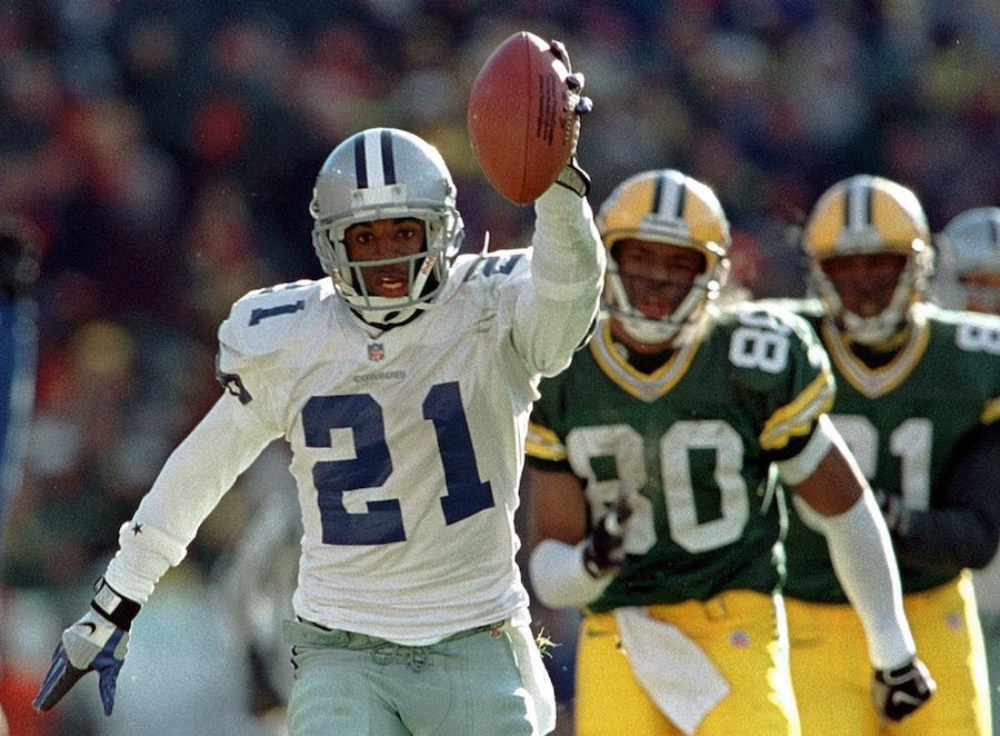 Deion Sanders, SMU's Forrest Gregg only former Cowboys named to ESPN's all-time best starting lineup | SportsDay