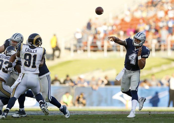 Jerseys NFL Online - Dallas Cowboys: WATCH: Cowboys QB Dak Prescott doesn't look like a ...