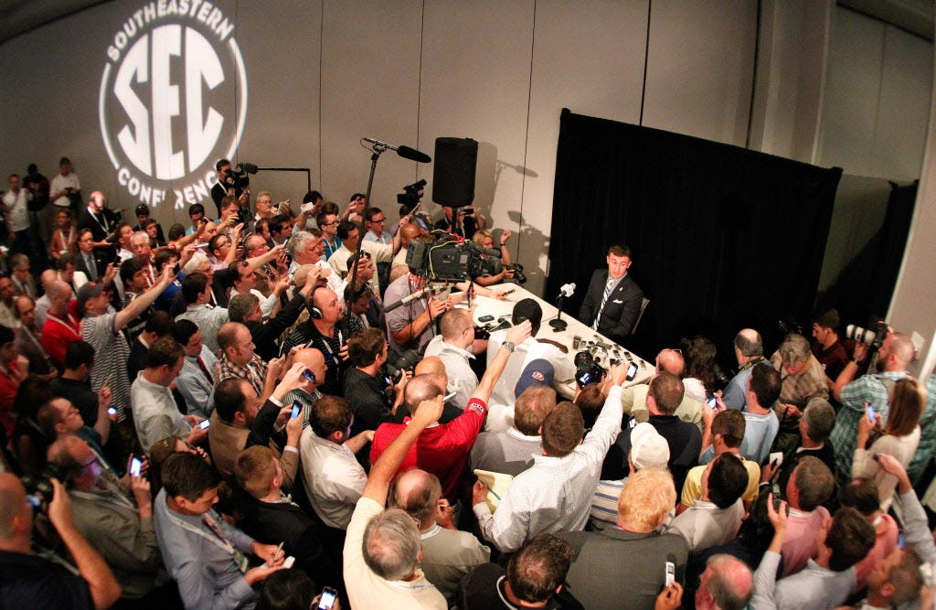Greg Sankey: Dallas among the cities under consideration to host future SEC football media days
