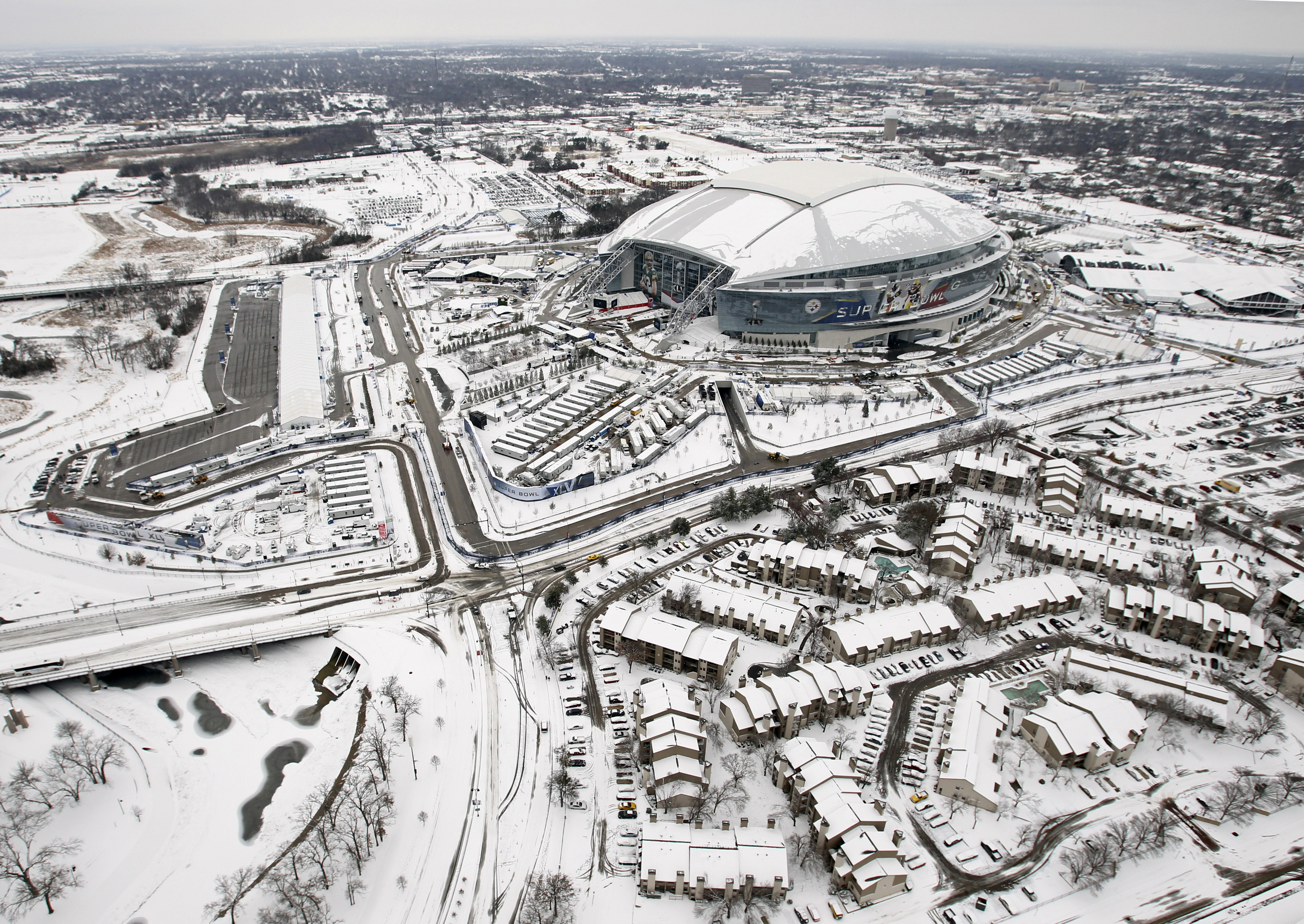 dallas cowboys flashback snow and ice storms almost ruin super