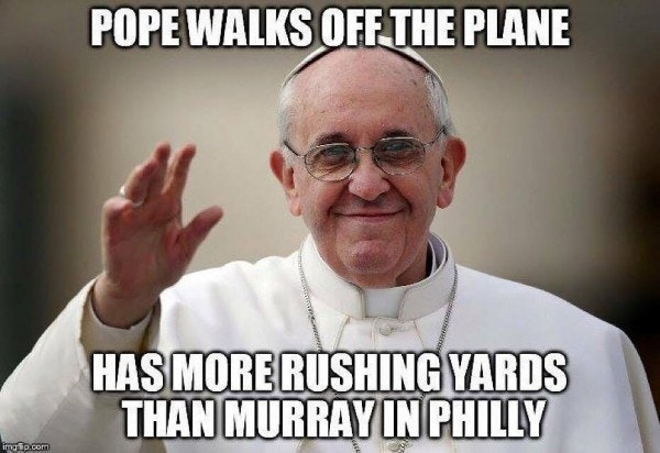 1443455798 Pope better than Murray e1443000375447?w=1200&h=630&format=jpg&crop=faces&fit=crop dallas cowboys the 15 funniest memes from cowboys' loss; does the