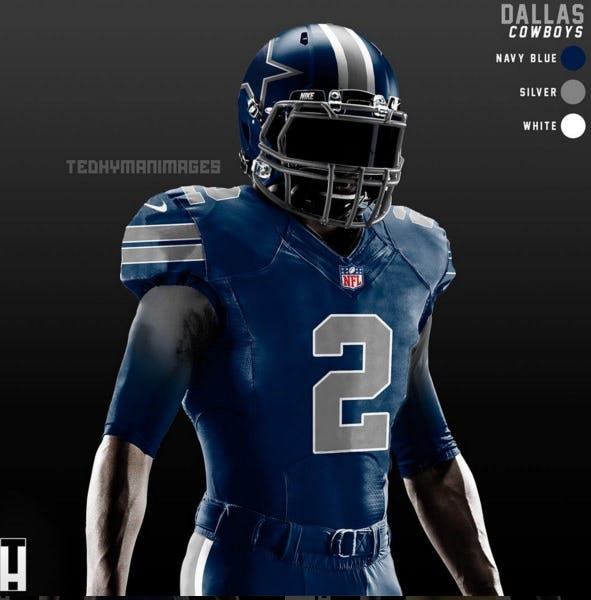 More Color Rush: See what Cowboys' blue-on-blue uniforms would look like