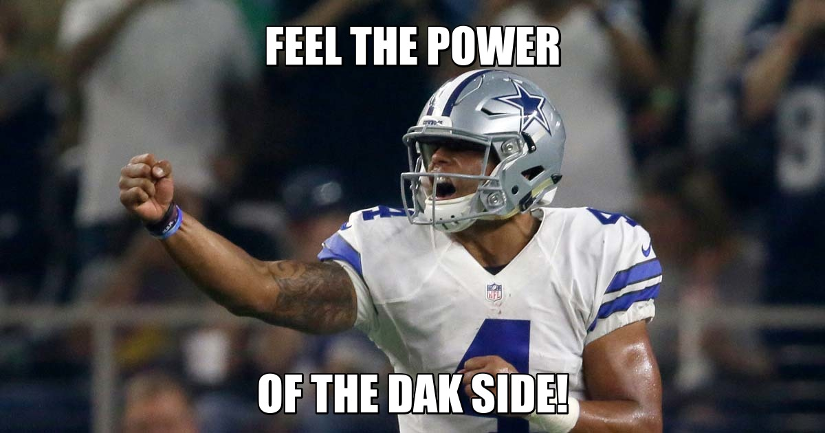 1475199855 week31474909973.94 dallas cowboys the top fan made memes from the cowboys' win over,Dak Prescott Cowboys Meme