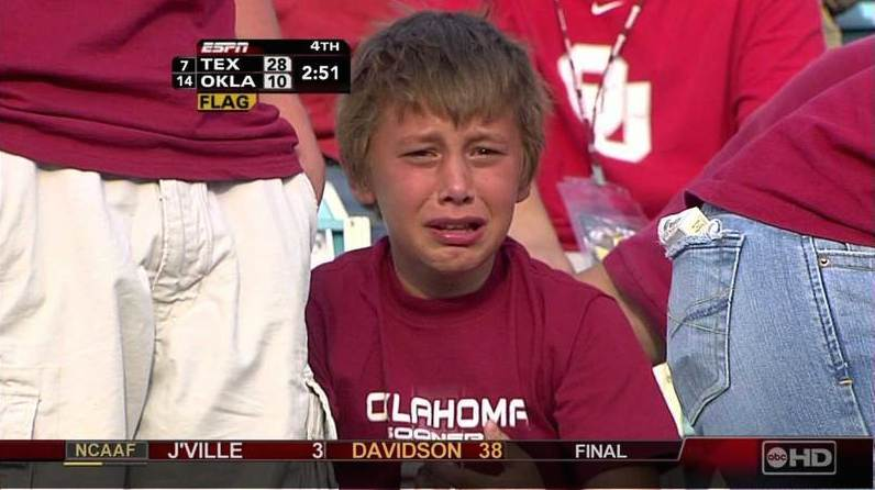 1475625378 soonerkidcrying college sports a decade later meet the sobbing sooner, one of