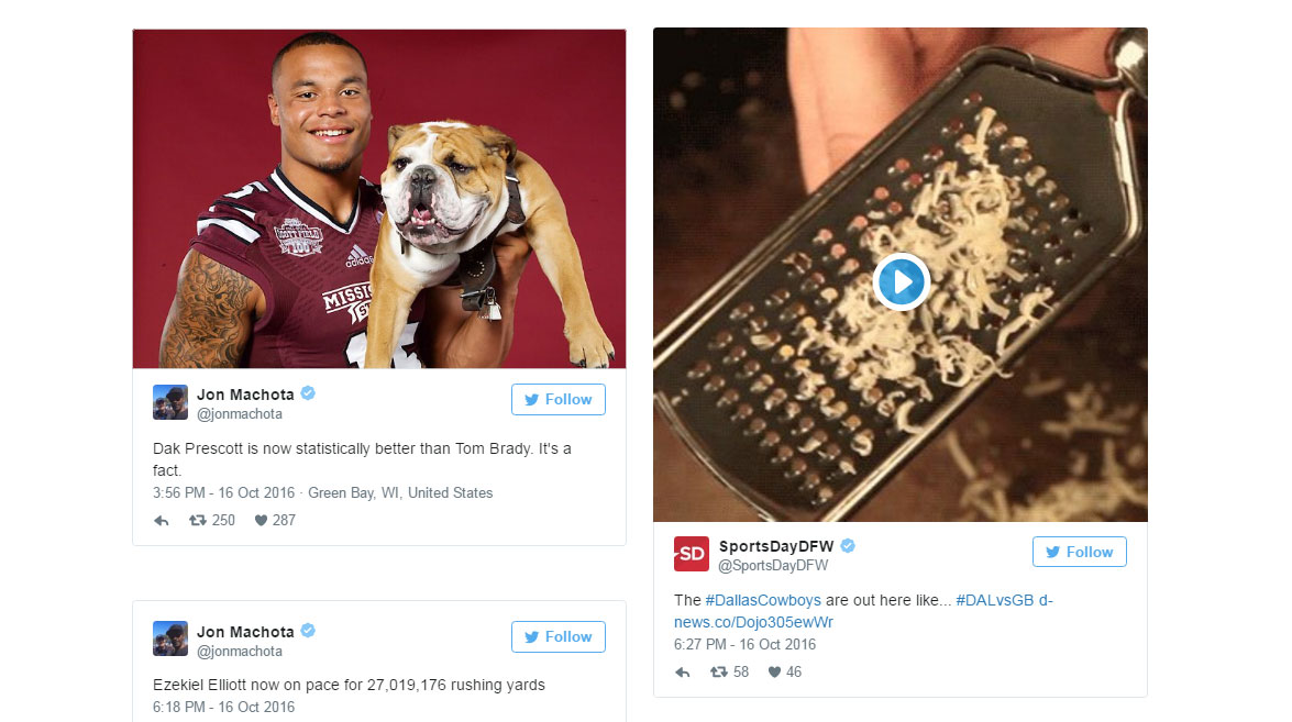 0c692c9fd Dallas Cowboys  Twitter reaction  Cowboys QB controversy is over  Super  Bowl