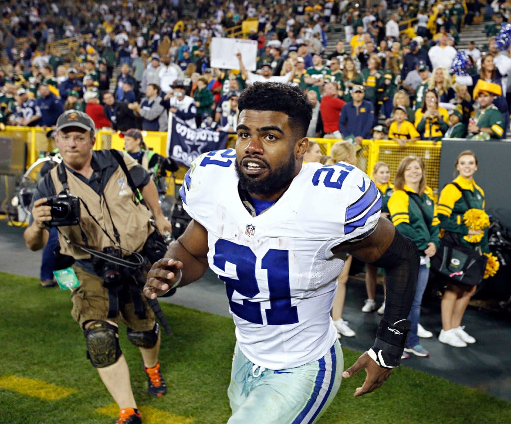 Report: NFL recently interviewed Cowboys' Ezekiel Elliott over ex-girlfriend's domestic abuse claims