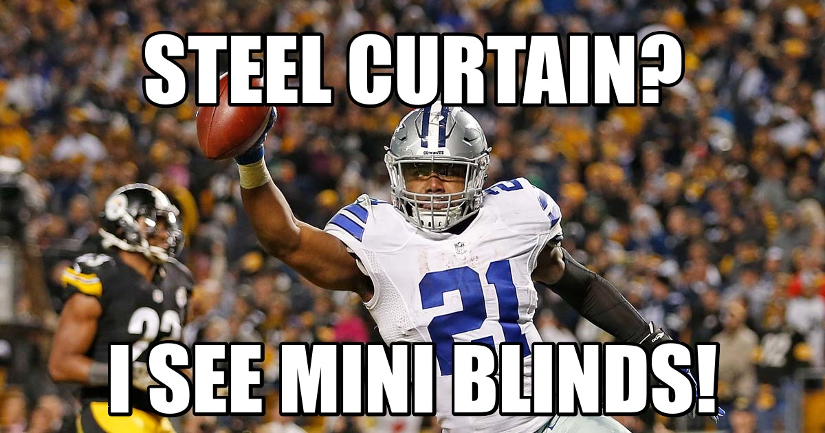 1479346650 week101479143121.98 dallas cowboys top fan made memes from cowboys' win over steelers,Cowboys Beat Steelers Meme