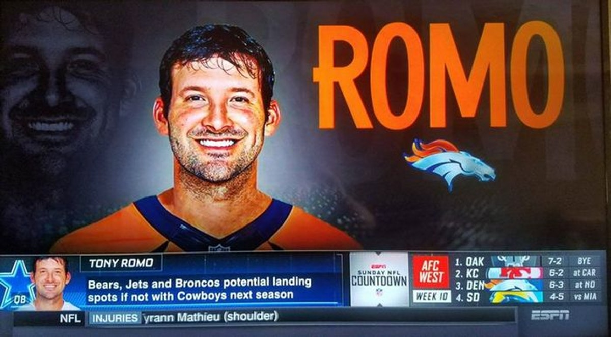 Image result for romo in a broncos jersey