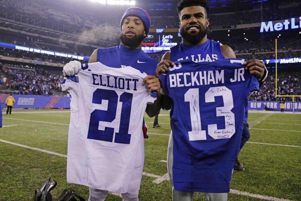 Dallas Cowboys: Giants WR Odell Beckham Jr. swaps jerseys ...