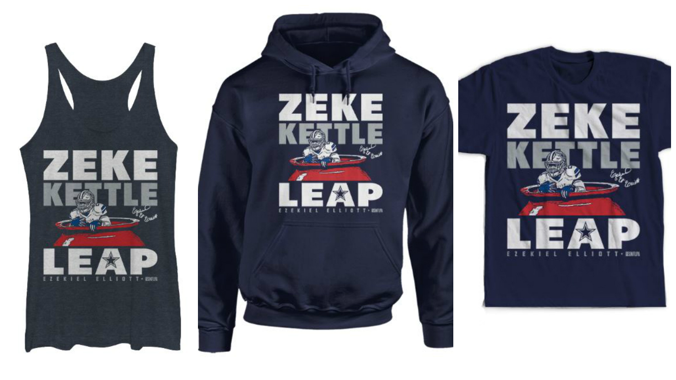 Dallas Cowboys  Next for Red Kettle campaign  Cowboys join to license Ezekiel  Elliott kettle leap apparel  386ef5728