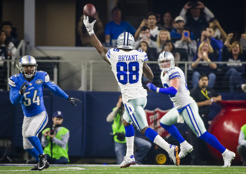Cowboys Wr Dez Bryant Overcame Nerves On Td Throw Then Hit