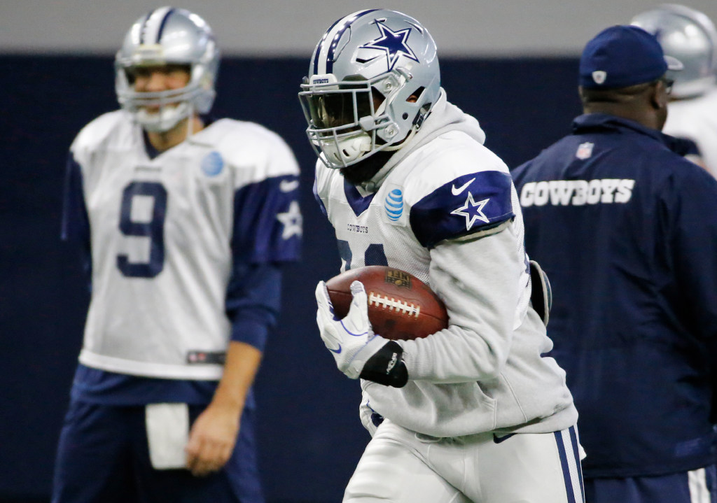 Dallas Cowboys  Why is Ezekiel Elliott wearing a hooded sweatshirt during  practice   3d7499bd2