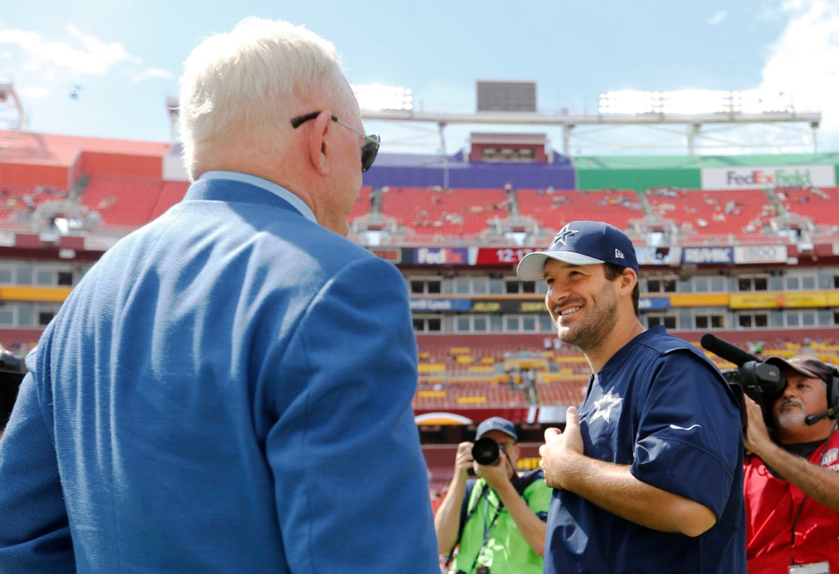 Dallas Cowboys: Cowboys owner Jerry Jones, Stephen tapping the brakes on Tony Romo talk: 'We need to just cool it'