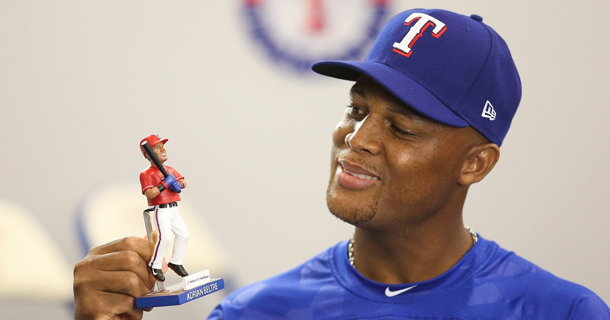 Texas Rangers Check Out The Bobbleheads And Other Goodies The Rangers Are Giving Out This