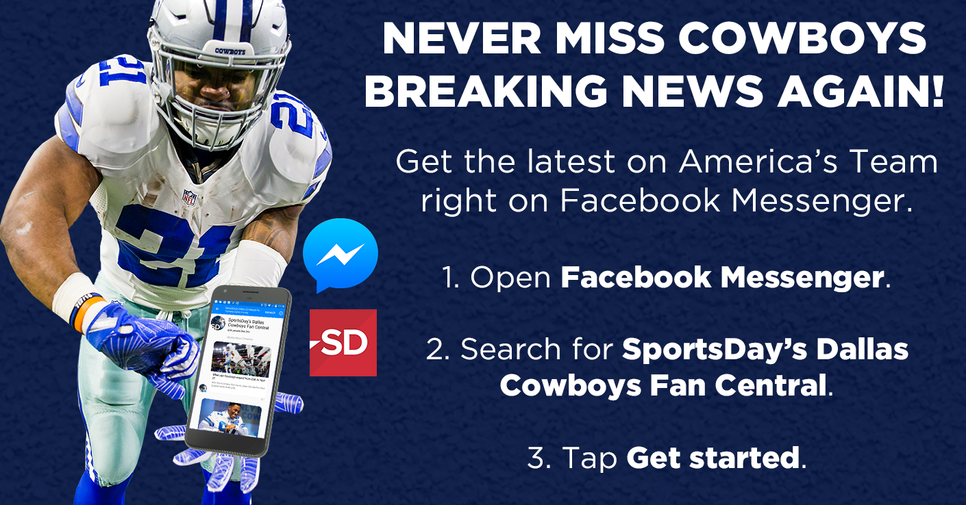 Get Cowboys breaking news on Facebook Messenger
