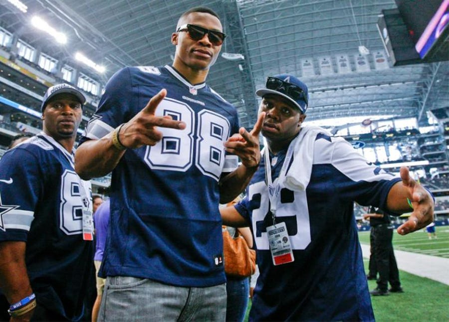 5c602597fae Dallas Cowboys: Celebrities who root for the Cowboys including Russell  Westbrook, LeBron, and 'Stone Cold' Steve Austin | SportsDay