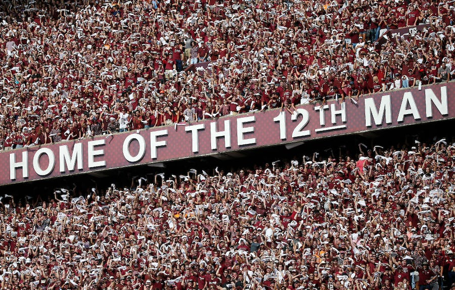 Kyle Field's old 'Home of the 12th Man' letters to be auctioned off individually | SportsDay