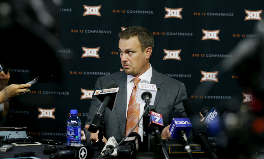 Video: What's on the mind of Texas HC Tom Herman right now? Not the College Football Playoff