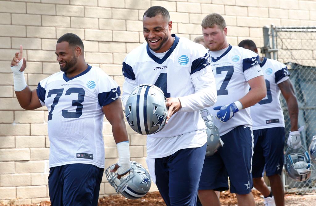 Cowboys QB Dak Prescott must toe fine line with teammates'off-field chaos, so here's his plan