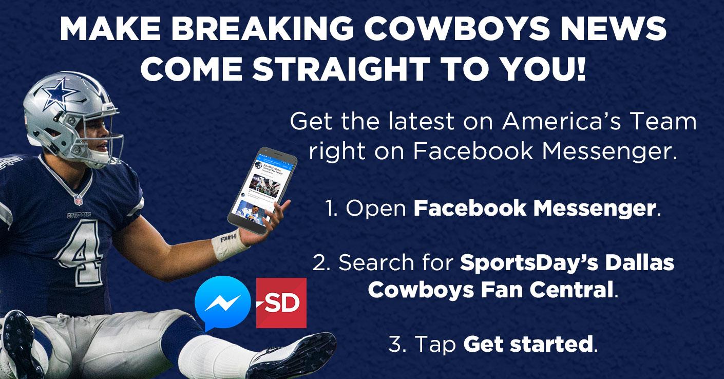 Get Cowboys breaking news on Facebook Messenger