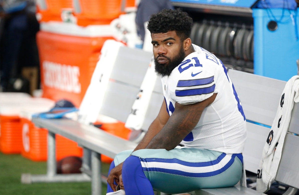 Image result for ezekiel elliott on bench