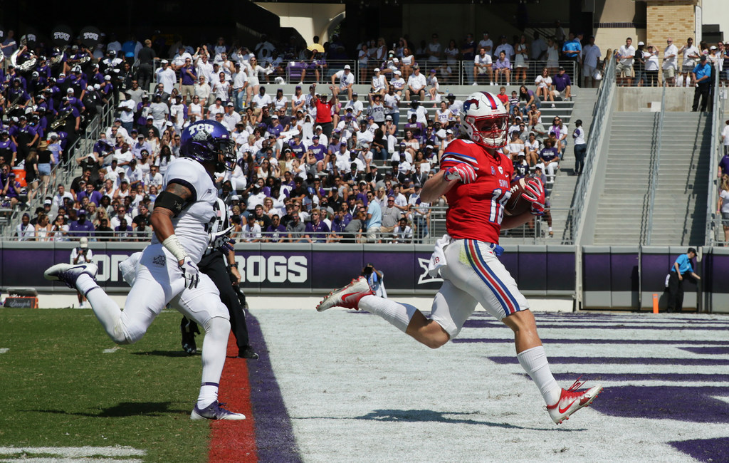 After a long hiatus, SMU WR Trey Quinn is finding joy in playing football again
