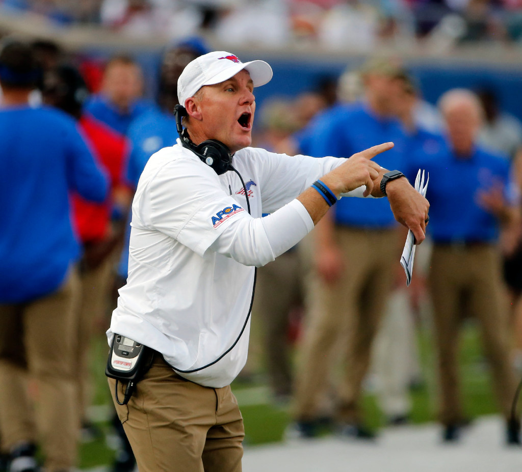 How far is SMU from competing for a spot in the AAC title game?