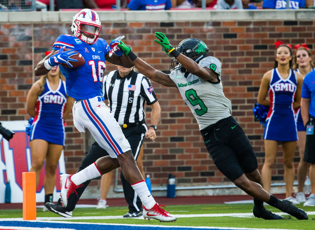 Is SMU's Courtland Sutton the best wide receiver prospect in college football?