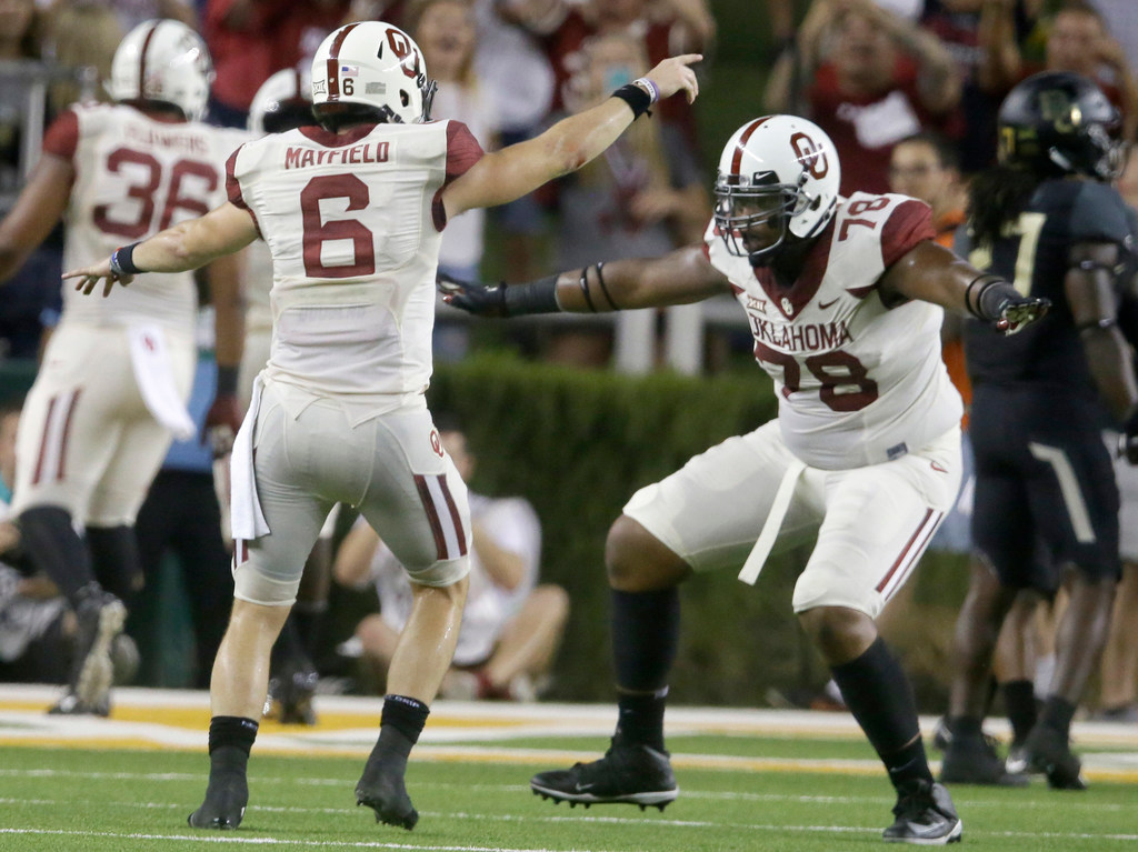 Oklahoma faces the scare of a lifetime, but eventually rebounds to beat Baylor 49-41