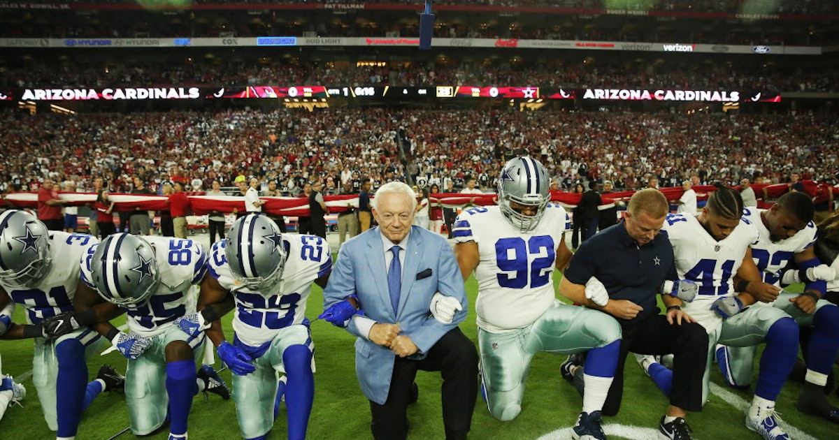 f669c91e47ca8f Dallas Cowboys: National reaction to Jerry Jones: Michael Bennett, others  blast Cowboys owner's anthem stance | SportsDay