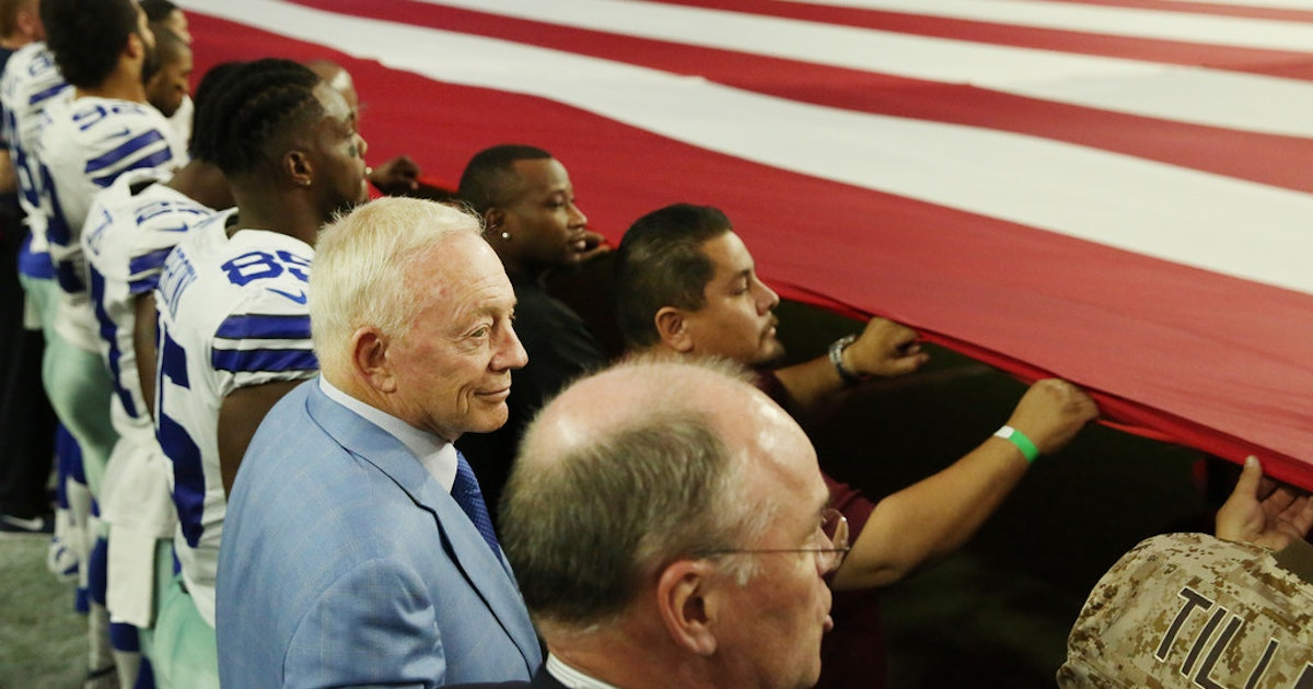 Out of step? National anthem controversy puts different spotlight on Cowboys owner Jerry Jones