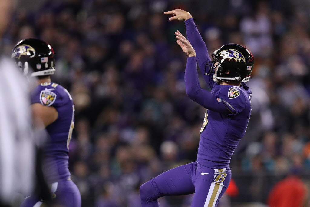 Watch: Justin Tucker is arguably the best kicker in the NFL but unarguably has sickest celebrations of any kicker
