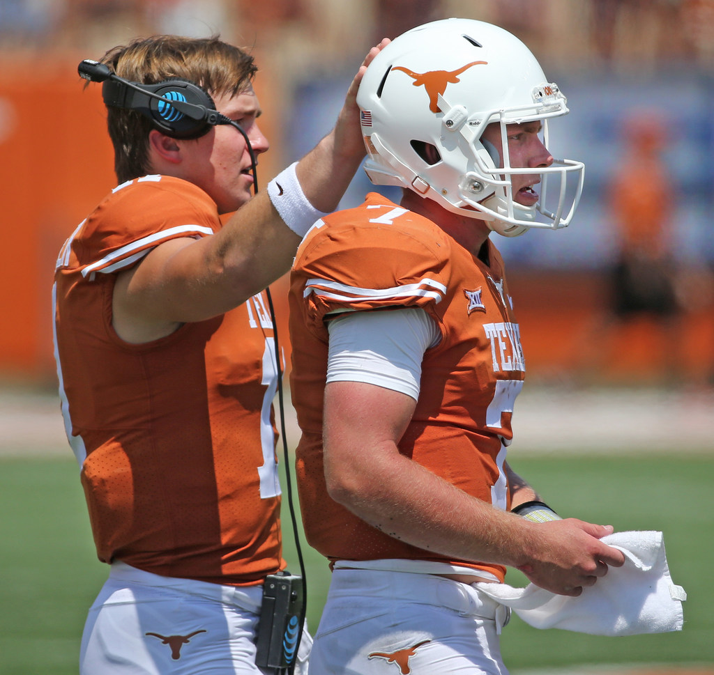 Five Texas position battles to watch heading into fall practice: Will it be Ehlinger or Buechele as the Longhorns' starting signal caller?