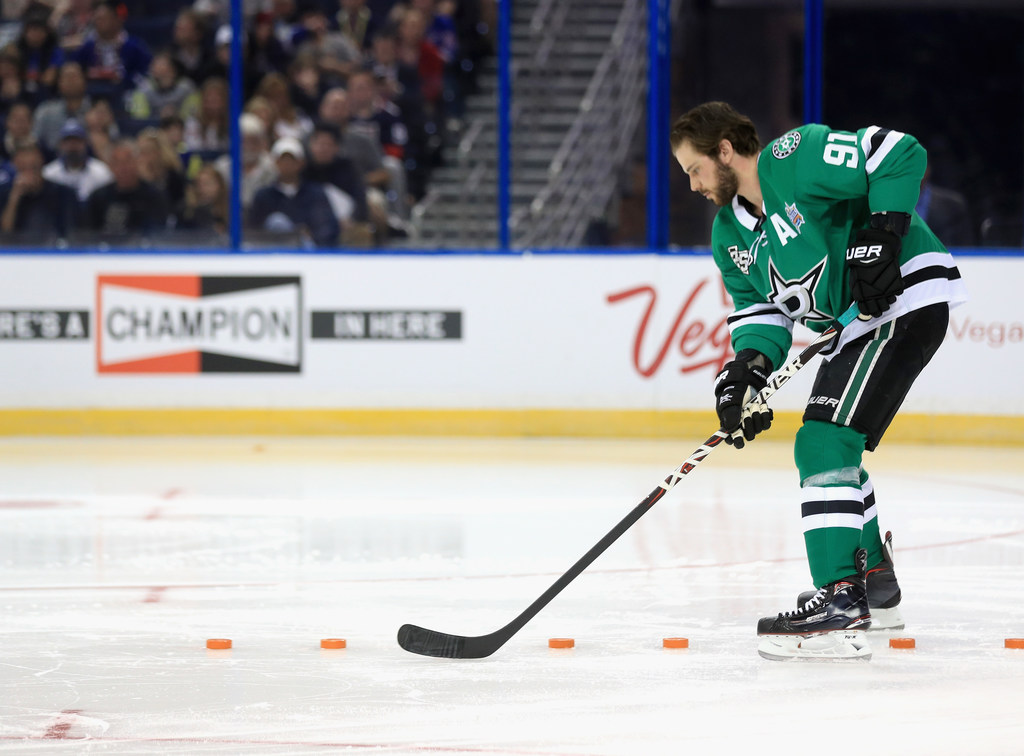 0affb0b93 Dallas Stars  Tyler Seguin proves there s no shame in bending the rules at  the NHL All-Star Skills Challenge