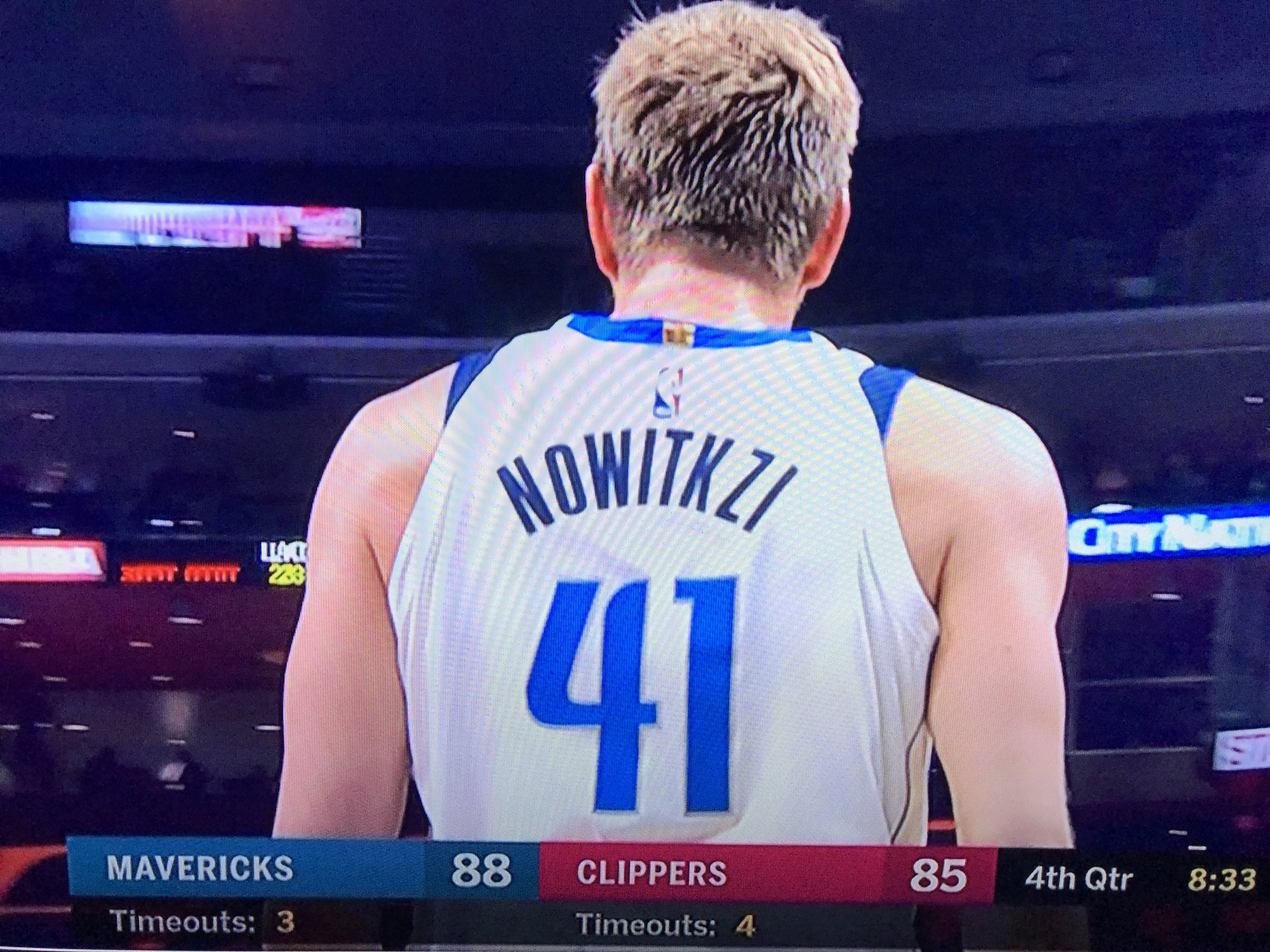 2e53a5139 Dallas Mavericks  Oops  Dirk Nowitzki s name was misspelled on his jersey  and Twitter loved it
