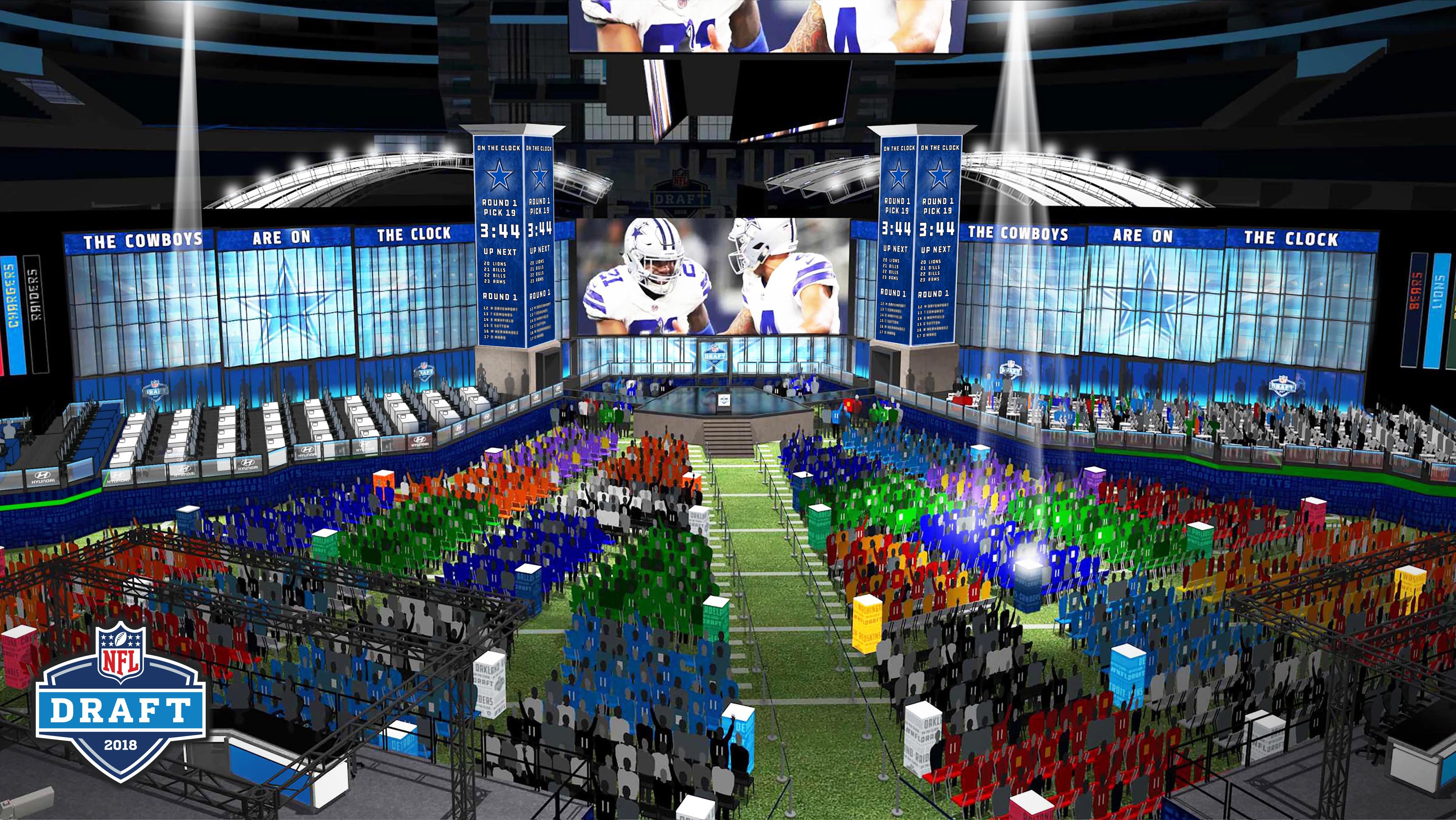 Dallas Cowboys  Drew Pearson as Cowboys reveal setup for NFL draft at AT T  Stadium   I pity the team that has to follow   230e4d0d1cf