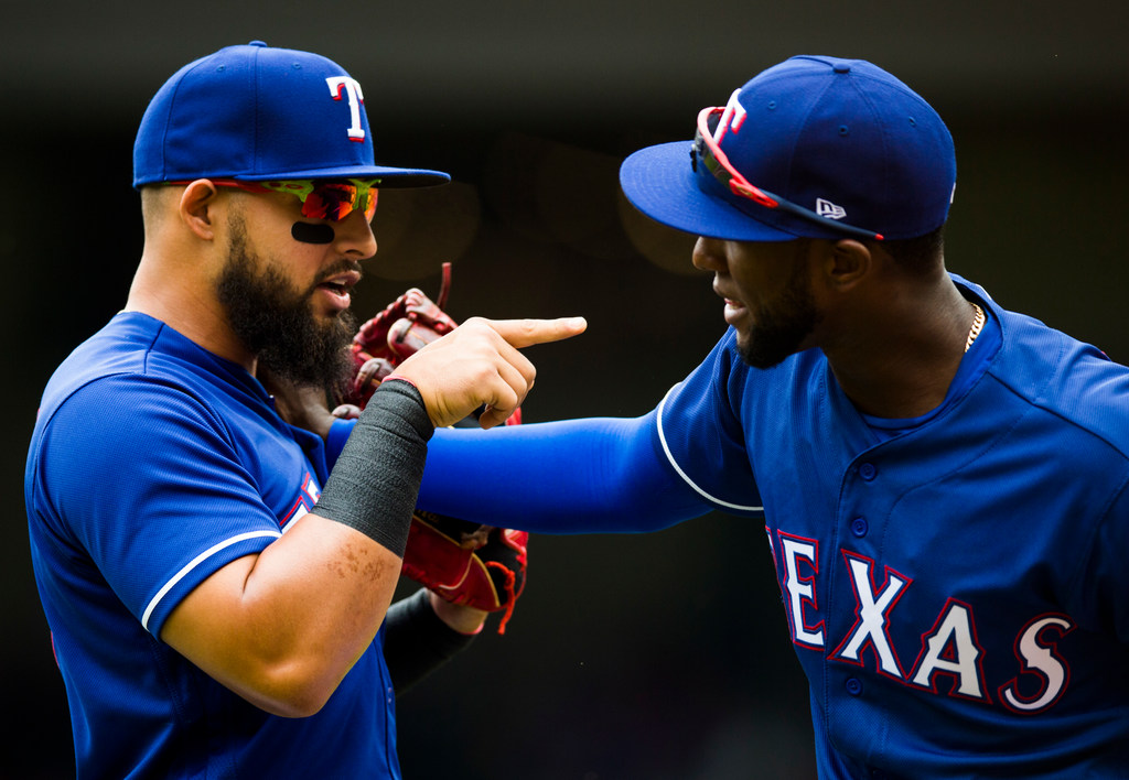 Rougned Odor hits first HR of season with newborn daughter in attendance