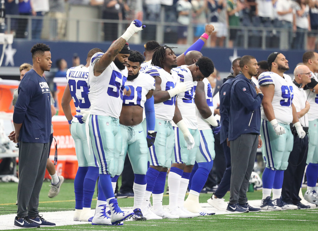bcaa3d59535c Dallas Cowboys  Players must stand for national anthem if they choose to  take the field under new NFL policy