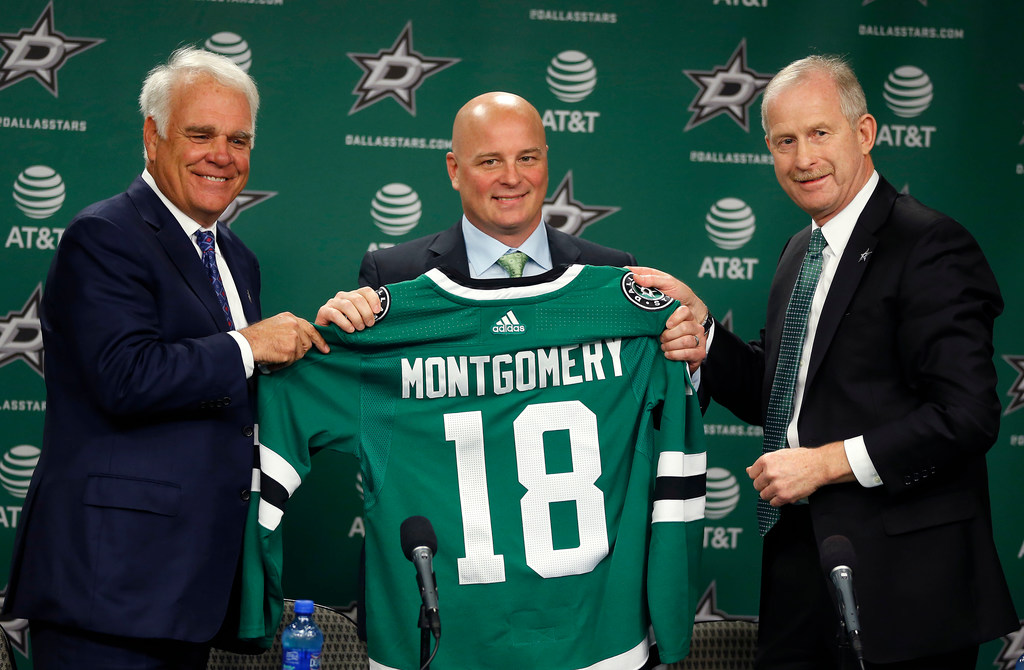 Stars coach Jim Montgomery on what made Dallas the job to pull him away from the college ranks