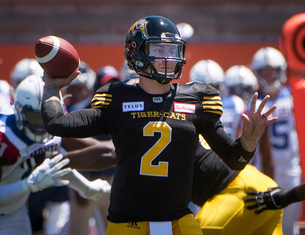 College Sports  Johnny Manziel throws first CFL touchdown pass in Tiger-Cats   preseason finale  79766baa0
