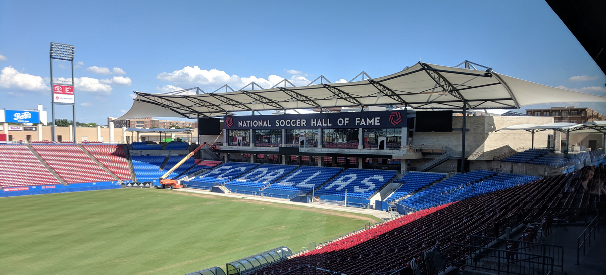 National Soccer Hall of Fame at Toyota Stadium progress tour