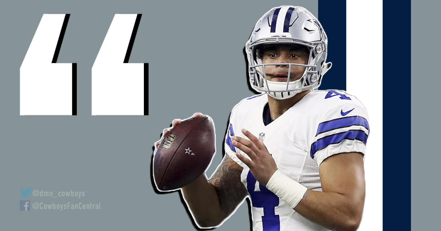 The best Dak Prescott quotes of the offseason: Being best Cowboys QB ever, Dez, standing for national anthem, and more