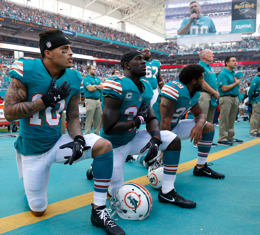 Miami Dolphins threaten to suspend players if they protest during national anthem under new team policy